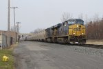 CSX 718 & 836 put their power to the rails as they start to lift G386-30 east