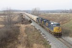 CSX 718 & 836 coast downhill toward the Thornapple River leading G386-30