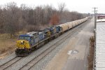 CSX 467 & 718 bring G010, an empty grain train that came out of Toledo as G103, through town
