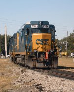 CSXT Slug 2326 w GP40-2 6927 in Wildwood on Black Friday 11-23-2012.  Parked on the Leesburg Wye