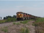 BNSF 9961 Rolls along with a empty coal train.
