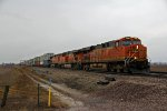 BNSF 7295 Leads a WB stack train.