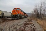 BNSF 6214 Heads up a coal load.