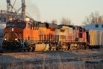 BNSF 6662 and BNSF 693 work the local.