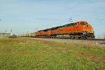 BNSF 6391 and bnsf 9369 team up on a Sb coal load.