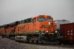 BNSF 5775 Meet's a Nb freight at Old Monroe Mo.