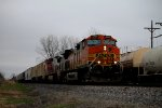 BNSF 4380 Rolls a freight into Old Monroe Mo.