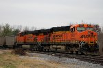 BNSF 6097 Sits tied down.