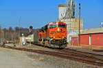 BNSF 6263 Leads Sb with a coal load at old monroe.