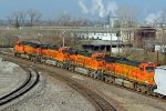 BNSF 5713 Leaves the trra yard heading for Saint Louis Mo.