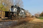 NS 5087 works a yard train.