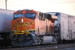 BNSF 7084 pushes a Manifest Train Southwest towards BNSF Clovis, NM as a Rear DPU.
