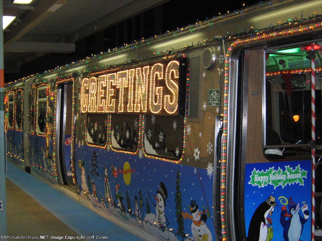2008 CTA Holiday Train at Roosevelt/Wabash