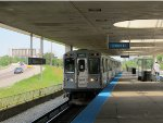 CTA Blue Line Train at Rosemont