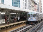 CTA Green Line Train at Randolph/Wabash