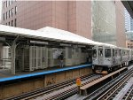 CTA Brown Line Train at LaSalle/Van Buren