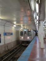 CTA Blue Line Train at Division/Milwaukee