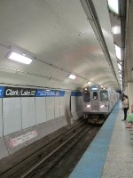CTA Blue Line Train at Clark/Lake