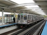 CTA Green Line Train at 43rd Street