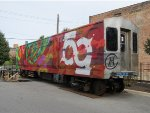 Former CTA 2200 Series Car Covered in Grafitti in Pilsen