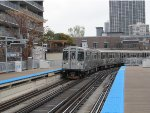 CTA Brown Line Train Rounding the Curve at Sedgwick