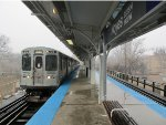 CTA Purple Line Train at Noyes