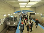CTA Blue Line Train at Logan Square