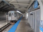 CTA Blue Line Train at Illinois Medical District