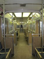 CTA 2400 Series Railcars Interior during Farewell Trip