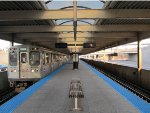 CTA Blue Line Train at Harlem/Higgins