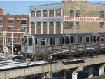 CTA Purple Line Express Train passing Wilson by the Disused Southbound Outer Platform