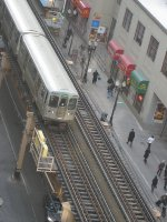 CTA Green Line Train Along Lake Street