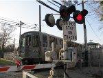 CTA Purple Line Express Train pulling into Linden