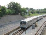 CTA Blue Line Train Approaching Jefferson Park