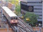 CTA Green Line Train Cruising Down Lake Street