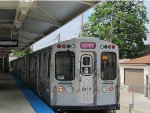 CTA Pink Line Train with New Color LCD Display Sign