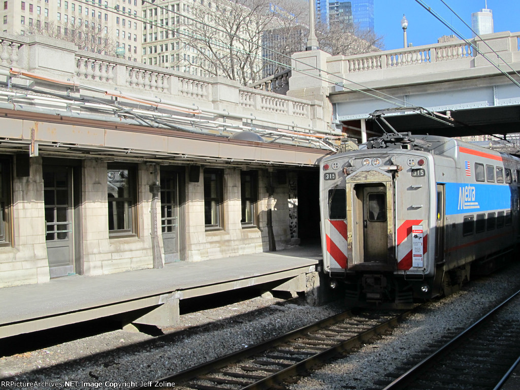 Metra Electric Train at Van Buren Street Station