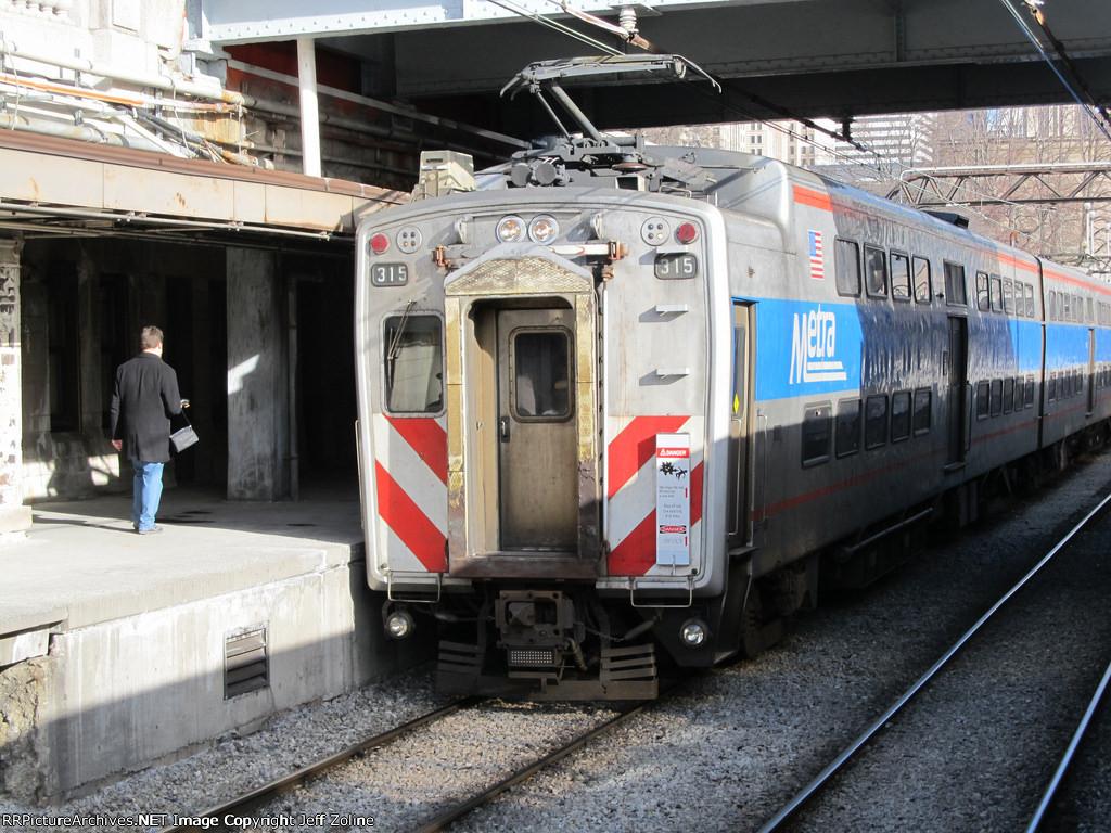 Metra Electrc Train at Van Buren Street Station