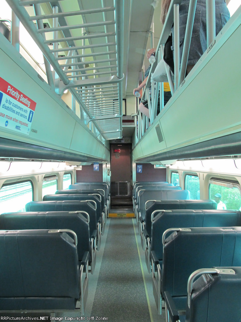 metra cab car interior at the 2015 franklin park railroad daze