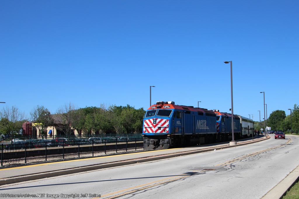 Metra BNSF Trains at Aurora