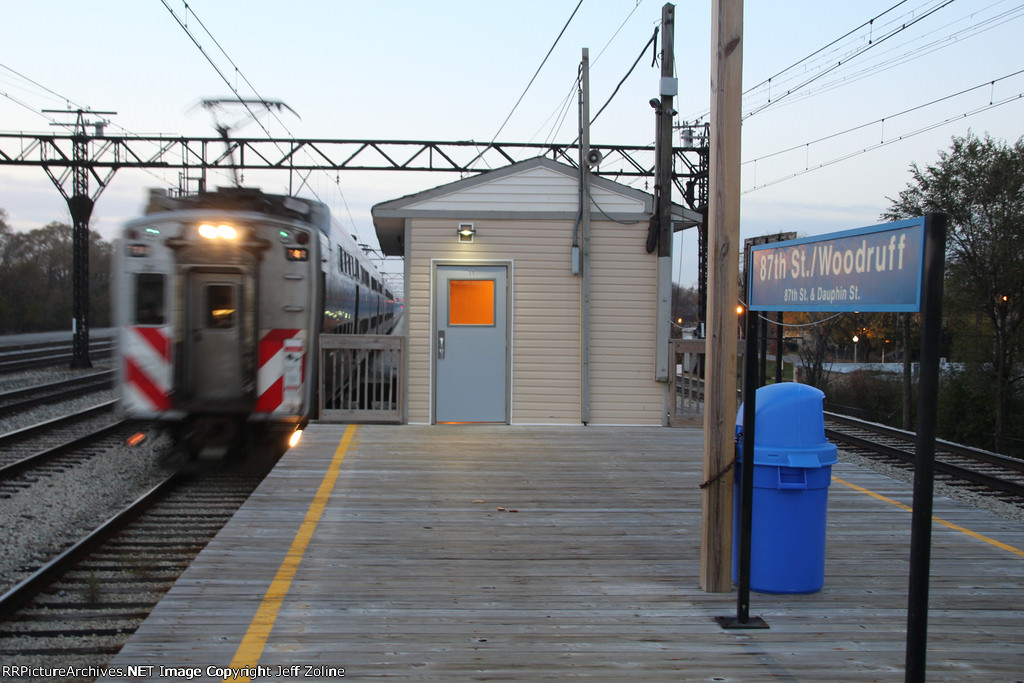 Metra Electric District Highliner Train at 87th Street (Woodruff)