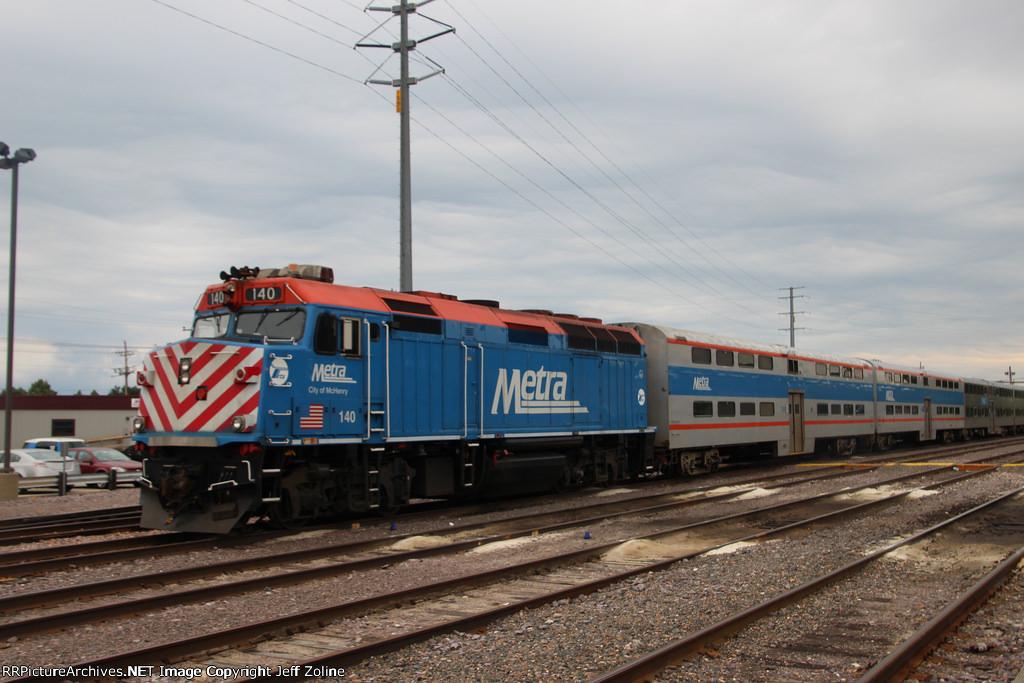 Metra UPN Train at the Waukegan Yard