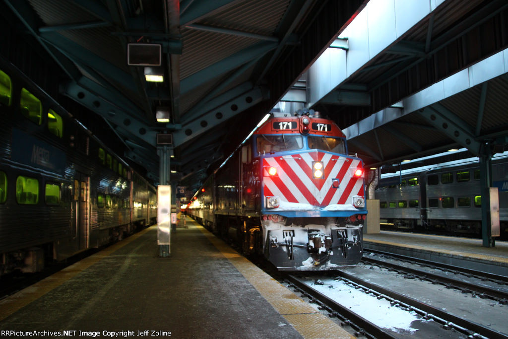 Metra Union Pacific Train at Ogilvie Transportation Center
