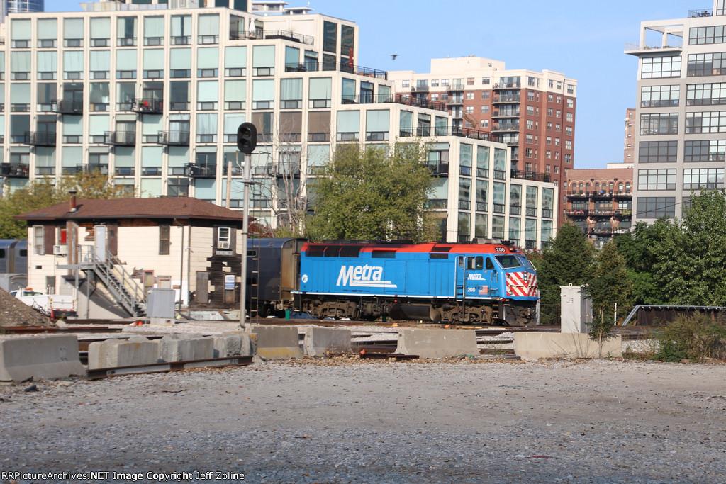 Metra Rock Island Train passing the 16th Street Tower