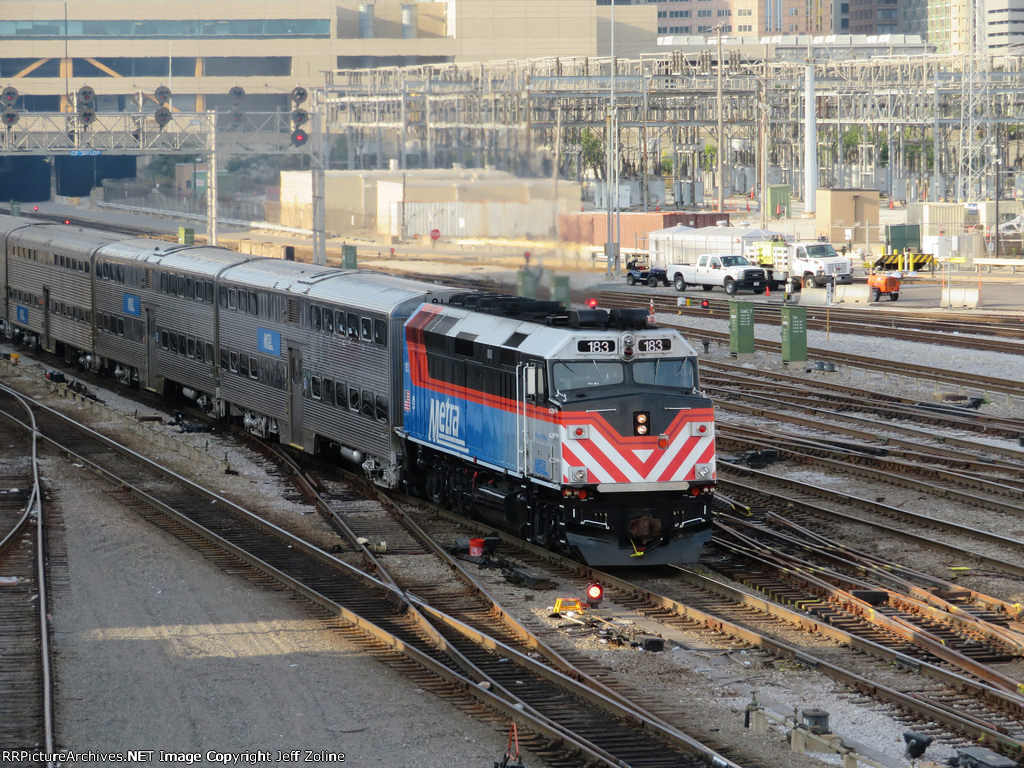 New Metra Train Design pulling out of Union Station
