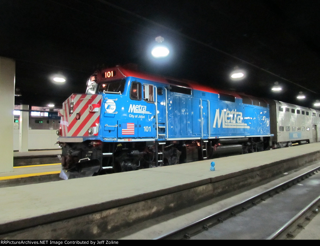 Metra Train Engine at Chicago Union Station