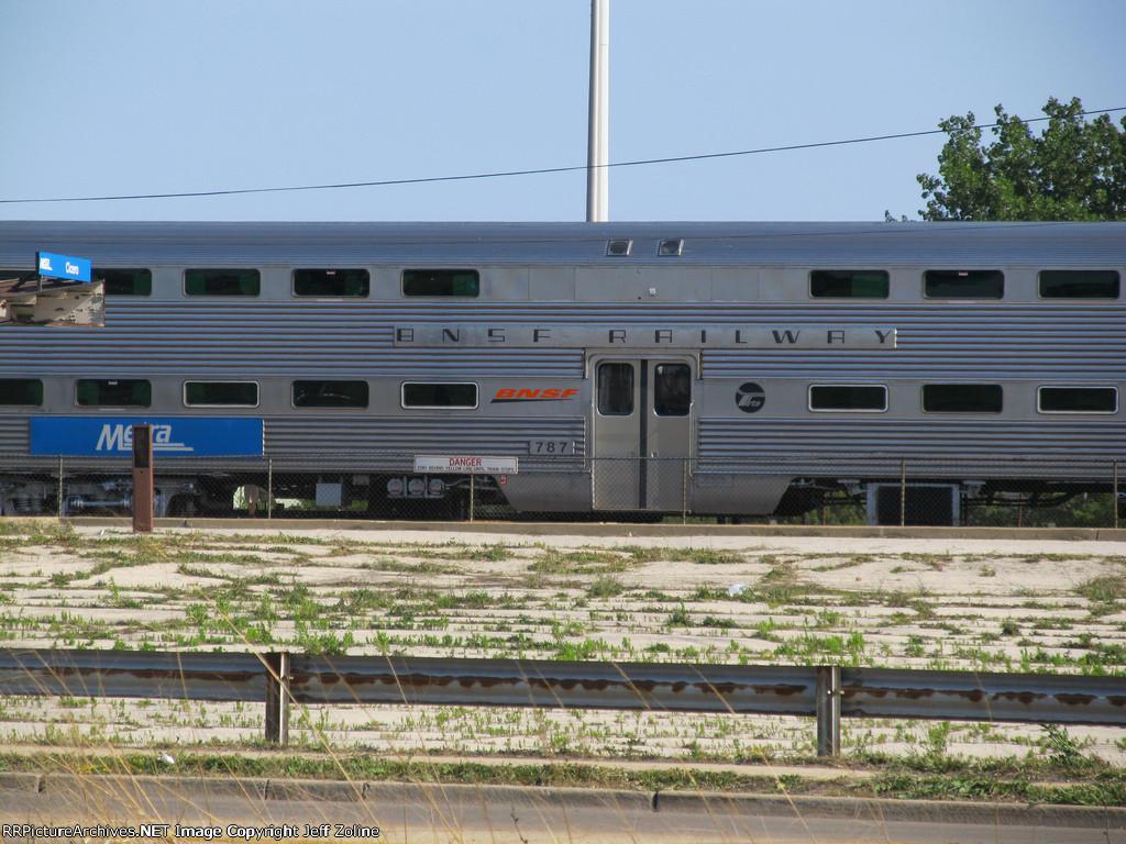 Metra BNSF Train Car at the Cicero Station