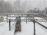 Metra Electric & South Shore Trains passing Roosevelt Road