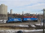 Metra Train Engine & Switcher Pair on the Rock Island Line