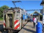 Metra Electric Highliner train at 47th Street (Kenwood) Station